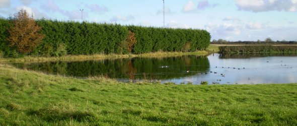 Cottesmore Lake in flood